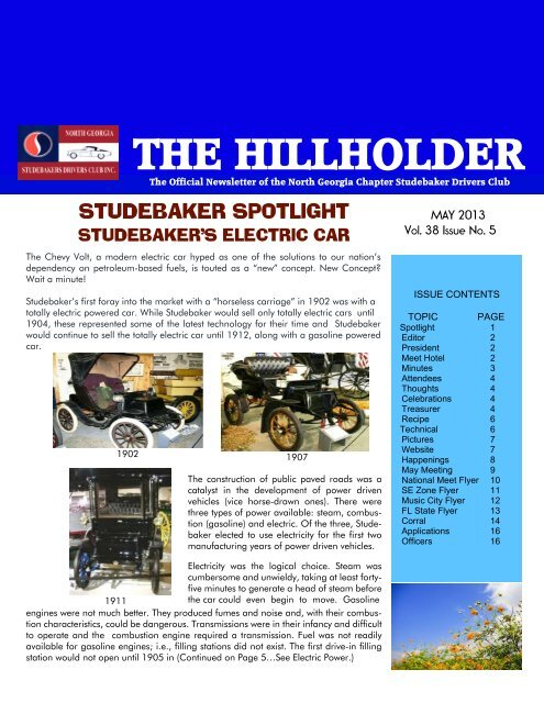 HH May 2013 - Studebaker Clubs