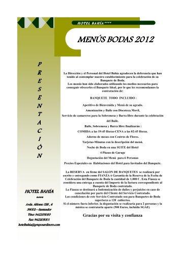 MENÚS BODAS 2012.pub - Hotel Bahía Santander