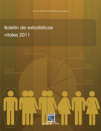 Boletín de estadísticas vitales - Inegi
