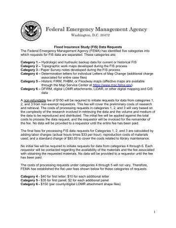 FIS Data Request Form - Federal Emergency Management Agency