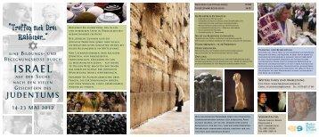 Programm und weitere Infos zur Reise als PDF - Israel mal anders