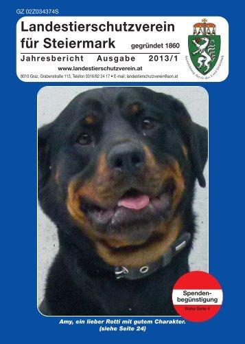 Jahresbericht 1 2013 - Landestierschutzverein