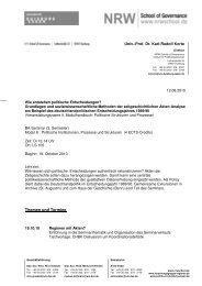 Univ.-Prof. Dr. Karl-Rudolf Korte Themen und Termine
