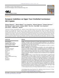 European Guidelines on Upper Tract Urothelial Carcinomas: 2013 ...
