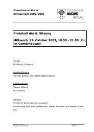 Protokoll 22. Oktober 2003 - Gemeinde Buchs