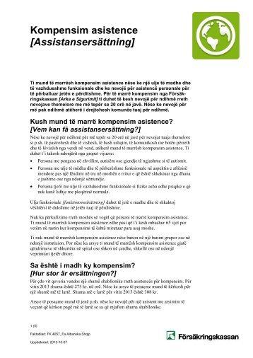 Kompensim asistence [Assistansersättning] - Försäkringskassan