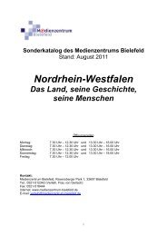 Sonderkatalog des Medienzentrums Bielefeld