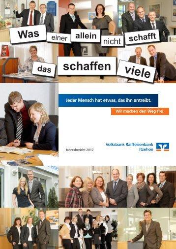 Jahresbericht 2012 - Volksbank Itzehoe