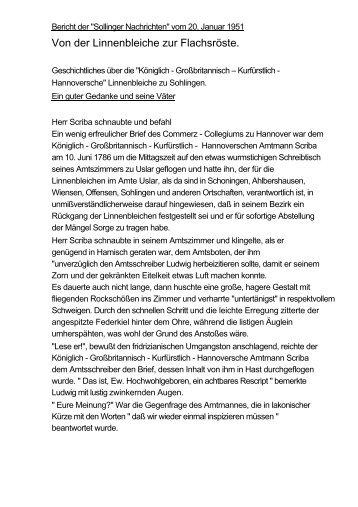 Zeitungsbericht - Heimatpflege im Uslarer Land