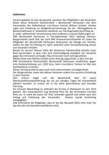Mitgliederversammlung 15 April 2013 - DRK Ortsverein ...