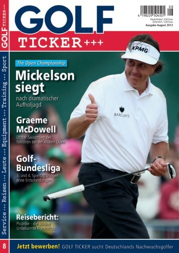 Ausgabe August 2013 (PDF, ca. 5,6 MB) - Golf Ticker