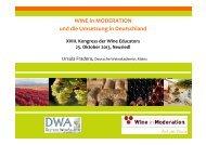 Wein - bewusst genießen und vermarkten - Weinakademie Österreich