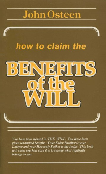 How to Claim the Benefits of the Will - Redeemed Christian ...