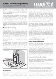 Hark 44 GT Ersatzteile - Kaminbau GmbH