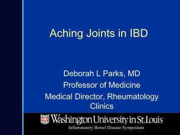 Aching Joints in IBD - cme