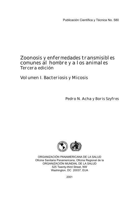 Zoonosis Enfermedades Parsitarias Humanos Y Animales Vol 1