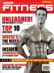 Inside Fitness Premier Issue USA - Personal Trainer New York City ...