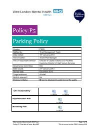 P5 - St Bernard's Hospital Site Parking Policy - West London Mental ...