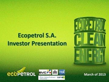 Ecopetrol S.A. Investor Presentation
