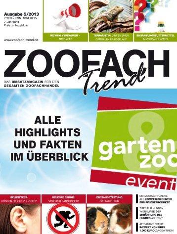 alle highlights und faKten im überblicK - ZooFach-Trend