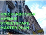 KNICKERBOCKER AVENUE STREETSCAPE MASTER PLAN