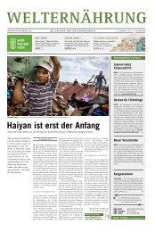 Download 4. Ausgabe 2013 (PDF 5,9 MB) - Welthungerhilfe