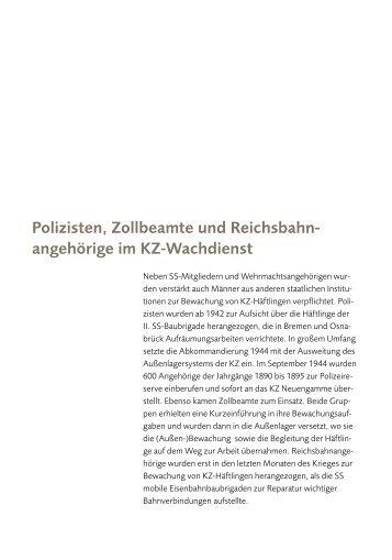 Polizisten, Zollbeamte und Reichsbahn- angehörige im KZ ...