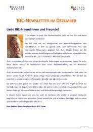 BIC Newsletter Dezember 2010