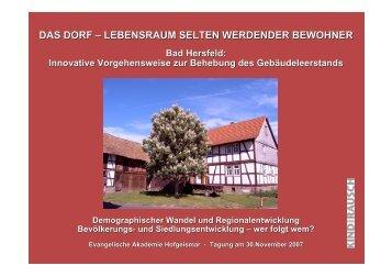 das dorf - Evangelische Akademie Hofgeismar