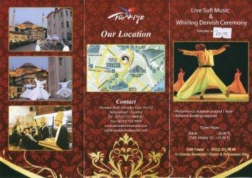 Alemdar Restaurant – Sufi Whirling Dancers Brochure - loneXplorer