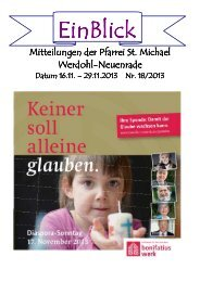einBlick_files/EinBlick 18.2013.pdf - Pfarrei St. Michael Werdohl ...