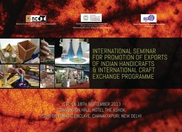 international seminar for promotion of exports of indian handicrafts ...