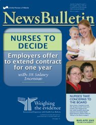 March 2005 - United Nurses of Alberta
