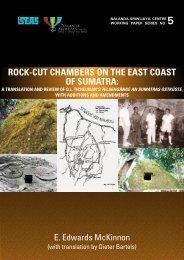 rock-cut chambers on the east coast of sumatra - Nalanda-Sriwijaya ...