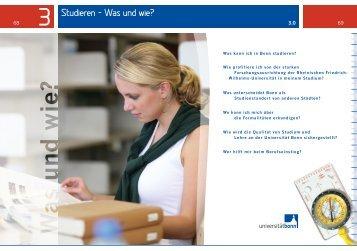 Studieren – Was und wie? - Universität Bonn