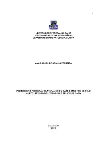 Monografia_Ana Raquel de Arajo Ferreira - Cirurgia Veterinária ...