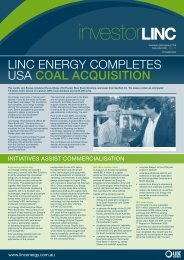September 2009 - Linc Energy
