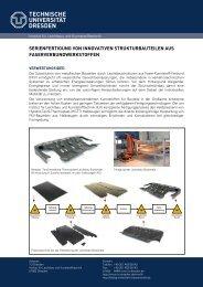 Serienfertigung von Strukturbauteilen aus Faserverbundwerkstoffen