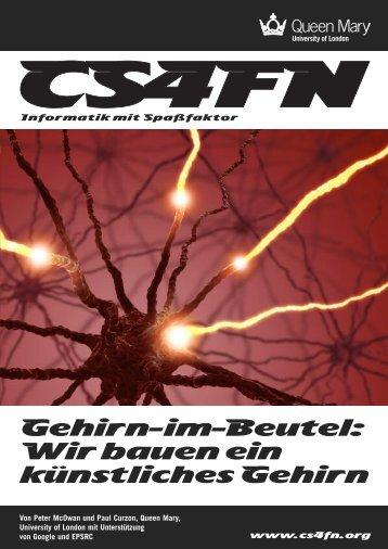 Gehirn-im-Beutel: Wir bauen ein künstliches Gehirn - cs4fn