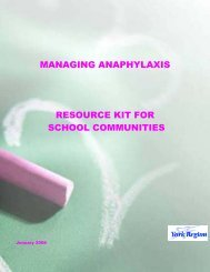 Anaphylaxis - the York Catholic District School Board