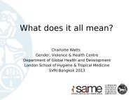 What does it all mean? - Sexual Violence Research Initiative