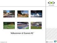 presentasjon - alle produkter - 2013 - Scansis AS