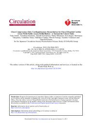 for the Japanese Circulation Society Resuscitation Science Study ...