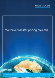 We've got transfer pricing covered brochure - Moore Stephens
