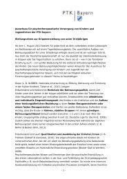 Stellungnahme des KJP-Ausschusses zur ... - PTK Bayern