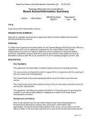 Board Action/Information Summary - Washington Metropolitan Area ...