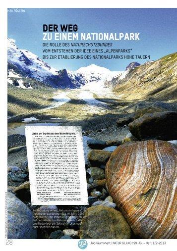 Der Weg zu einem Nationalpark - Naturschutzbund