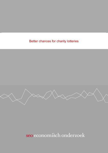 Better chances for charity lotteries - SEO Economisch Onderzoek
