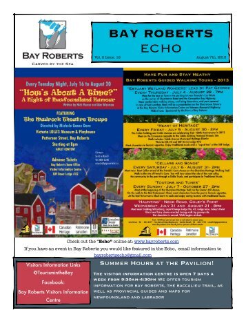 Echo - August 7th, 2013 - Bay Roberts