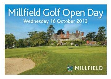 Millfield Golf Open Day